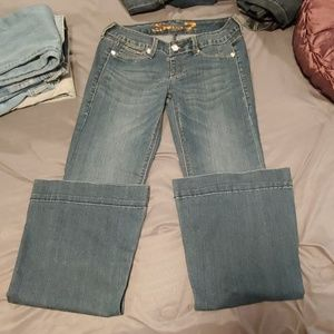 7 For All Mankind Low rise Flares Long length!
